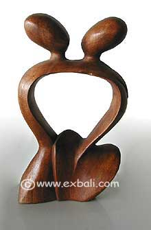 Carved Abstract Couple