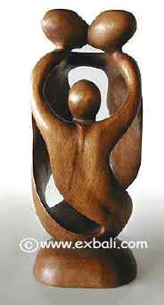 Abstract Familty wood carving
