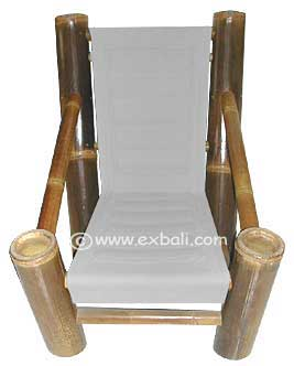 black bamboo lazy chair