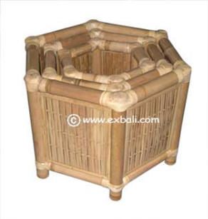 Hexagonal bamboo planter Boxes