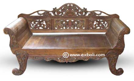 Carved knockdown Daybed /  Sofa