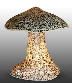 Glass Mosaic Mushroon