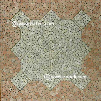 Stone mosaic mat and tile patterns
