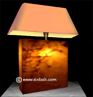 Stone lamp made of Onyx