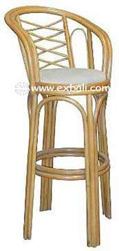 Swivel Rattan Bar stool