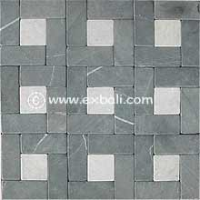 Mosaic stone mesh flooring products