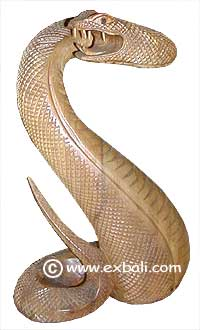 Coiled snake statue