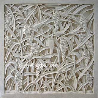 Wall mural carved from stone