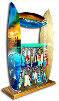 Surfing Key Chains