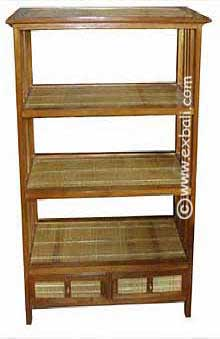 Teak Bamboo Book shelf