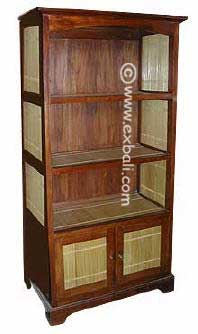 Open Cupboard with doors