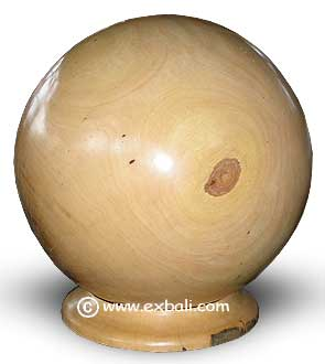 Turned wooden ball