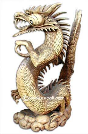 Carved Dragons From Bali