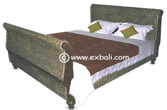 Woven Sleigh bed